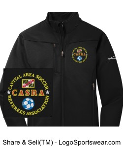 Black Softshell Jacket Design Zoom
