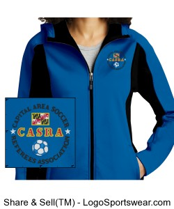Ladies Blue Softshell Design Zoom